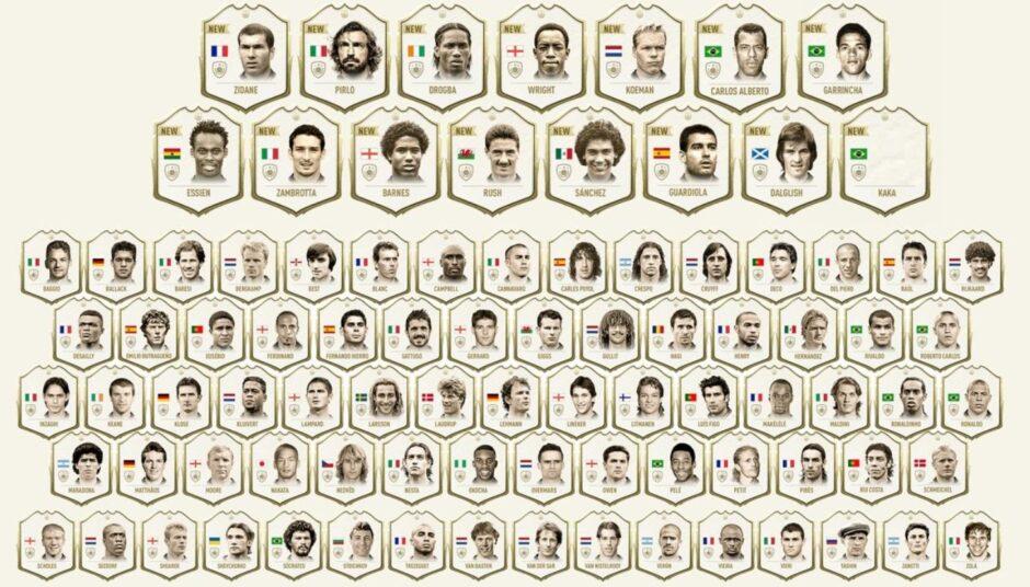 FIFA 20 reveló todos los iconos que estarán disponibles en Ultimate Team
