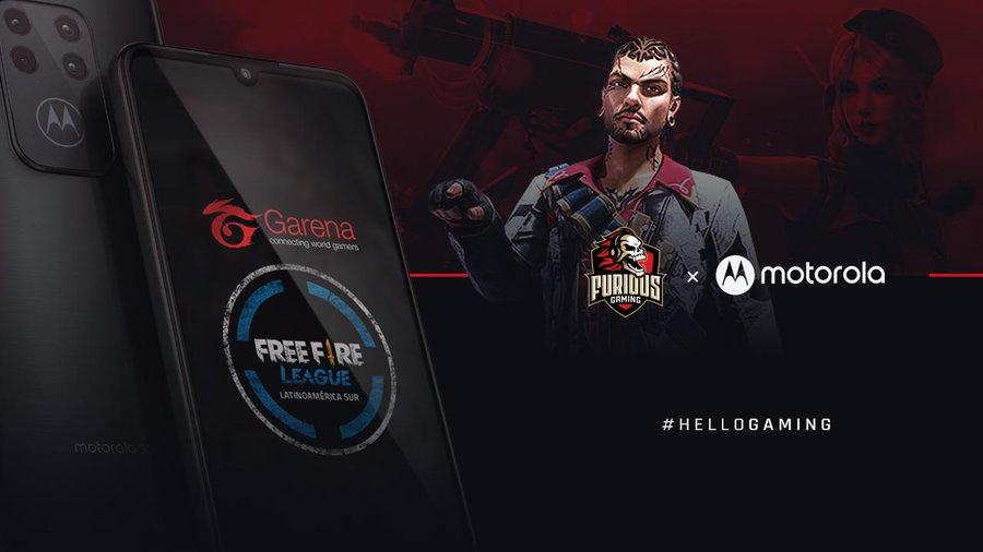 Motorolay Furious Gaming se unen para competir en Free Fire, el juego mobile más jugado del planeta