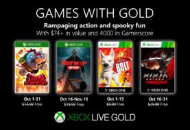 Microsoft anunció los Games with Gold de octubre: Elefantes, explosiones, un asesino en serie y ninjas