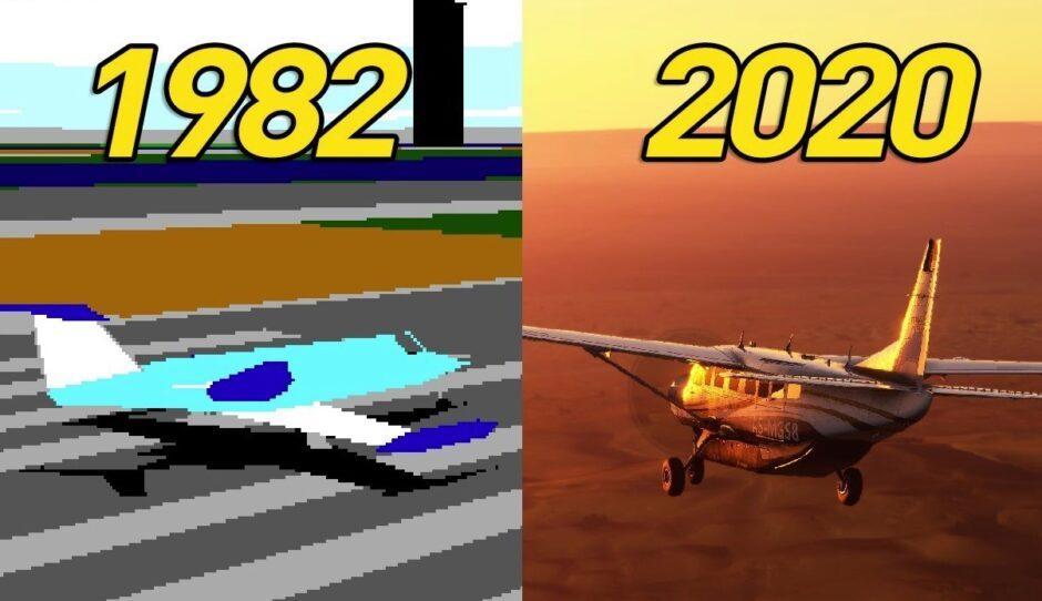 Microsoft Flight Simulator, según pasan los años: de 1982 a 2019, estas fueron todas las versiones del juego que ahora se ve más real que nunca