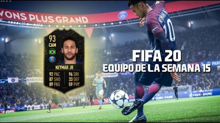 Neymar recibió en FIFA 20 un IF de 93 en el TOTW 15