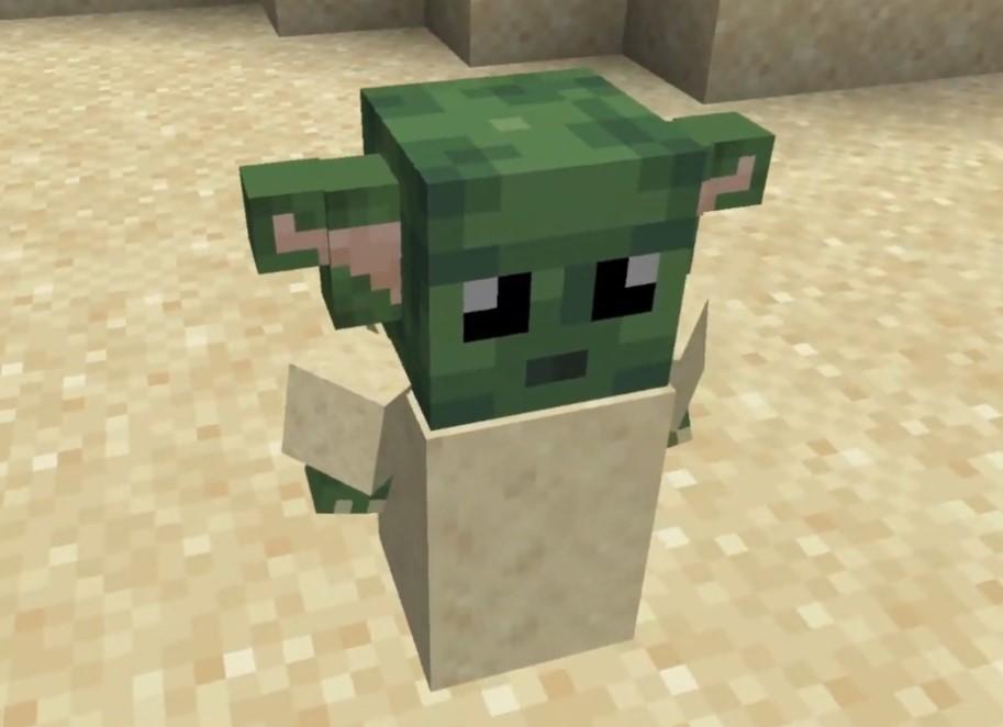Baby Yoda llega a Minecraft y la verdad es que es difícil distinguirlo del Yoda original