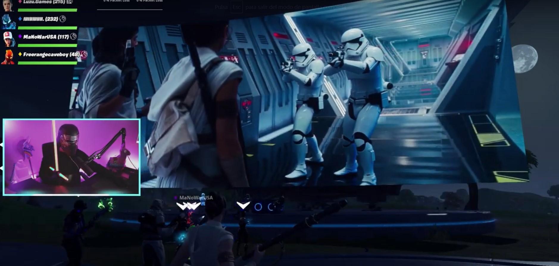Star Wars: The Rise of Skywalker tuvo su esperado evento en Fortnite