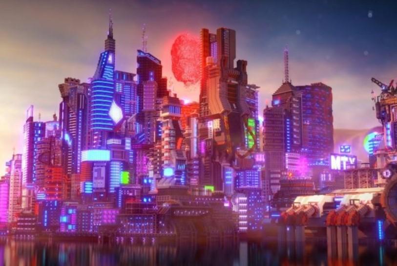 A Minecraft le llegó la fiebre Cyberpunk 2077: una obra maestra de bloques pixelados