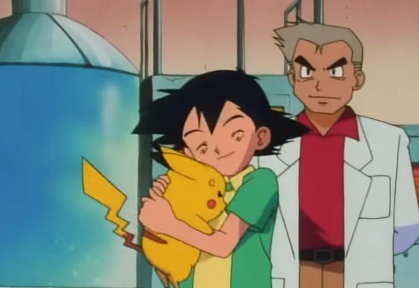 Ash y Pikachu en el primer episodio
