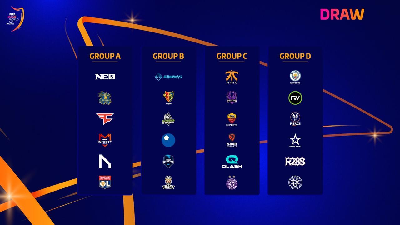 Se sortearon los grupos de la FIFA eClub World Cup 2020