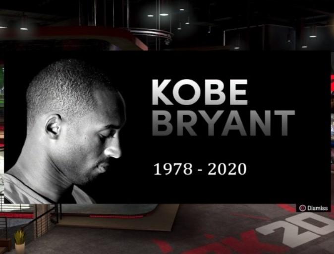 NBA 2K20 recuerda a Kobe Bryant en su juego con una actualización