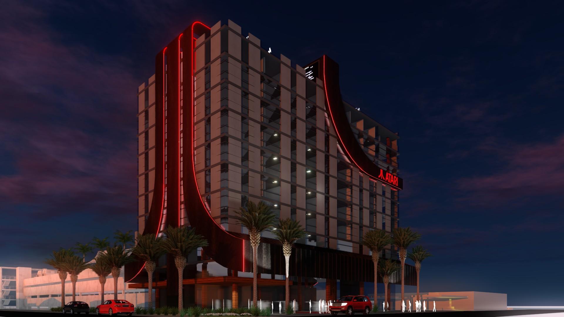 Atari trabaja en un sorprendente concepto de hotel inspirado en sus videojuegos