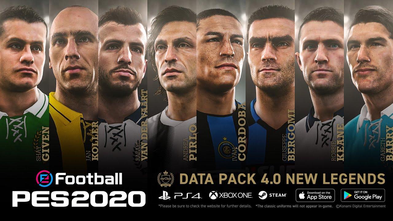 Pro Evolution Soccer 2020 recibió su cuarta actualización y contará con 50 caras nuevas y ochos leyendas