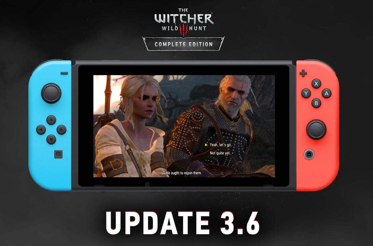 La actualización de The Witcher 3 de Nintendo Switch mejora los gráficos y permite el guardado cruzado con Steam y GOG