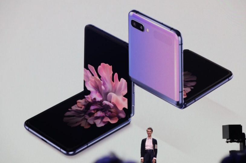La presentación del Galaxy Z Flip durante el Unpacked 2020.
