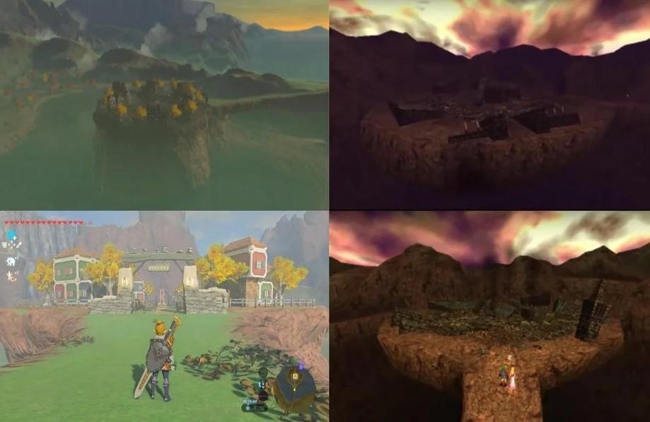 El castillo de Ganon de Ocarina of Time podría estar en The Legend of Zelda: Breath of The Wild