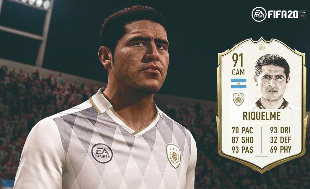 FIFA 20 sumó a Juan Román Riquelme como leyenda de la Libertadores pero hay polémica por las estadísticas