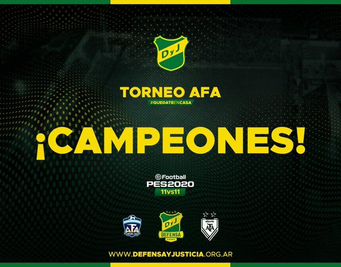 Defensa y Justicia se coronó campeón del torneo #QuedateEnCasa luego de vencer a Talleres de Córdoba