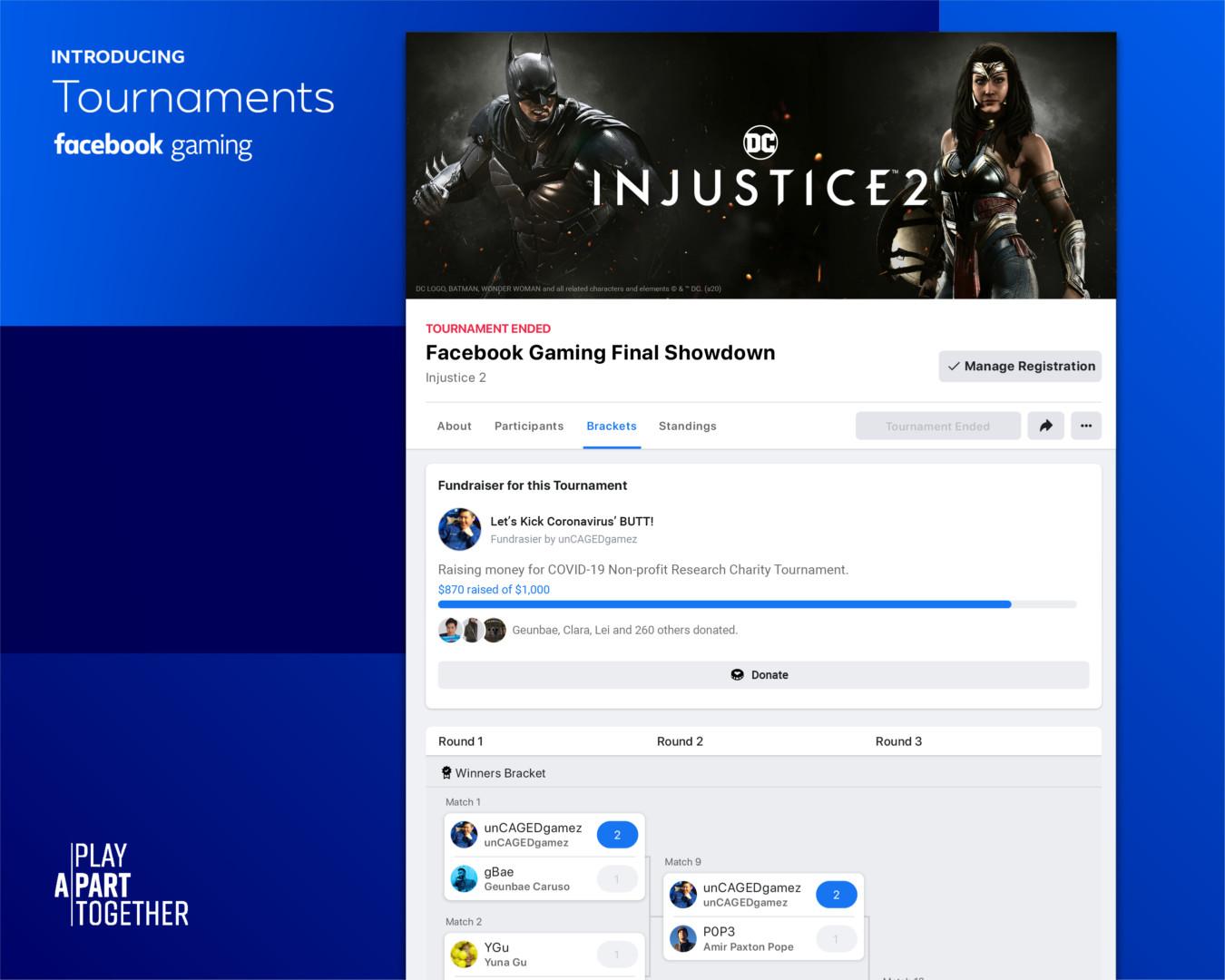 """Facebook Gaming agregó """"Torneos"""": la herramienta para crear eventos de esports en la red social"""