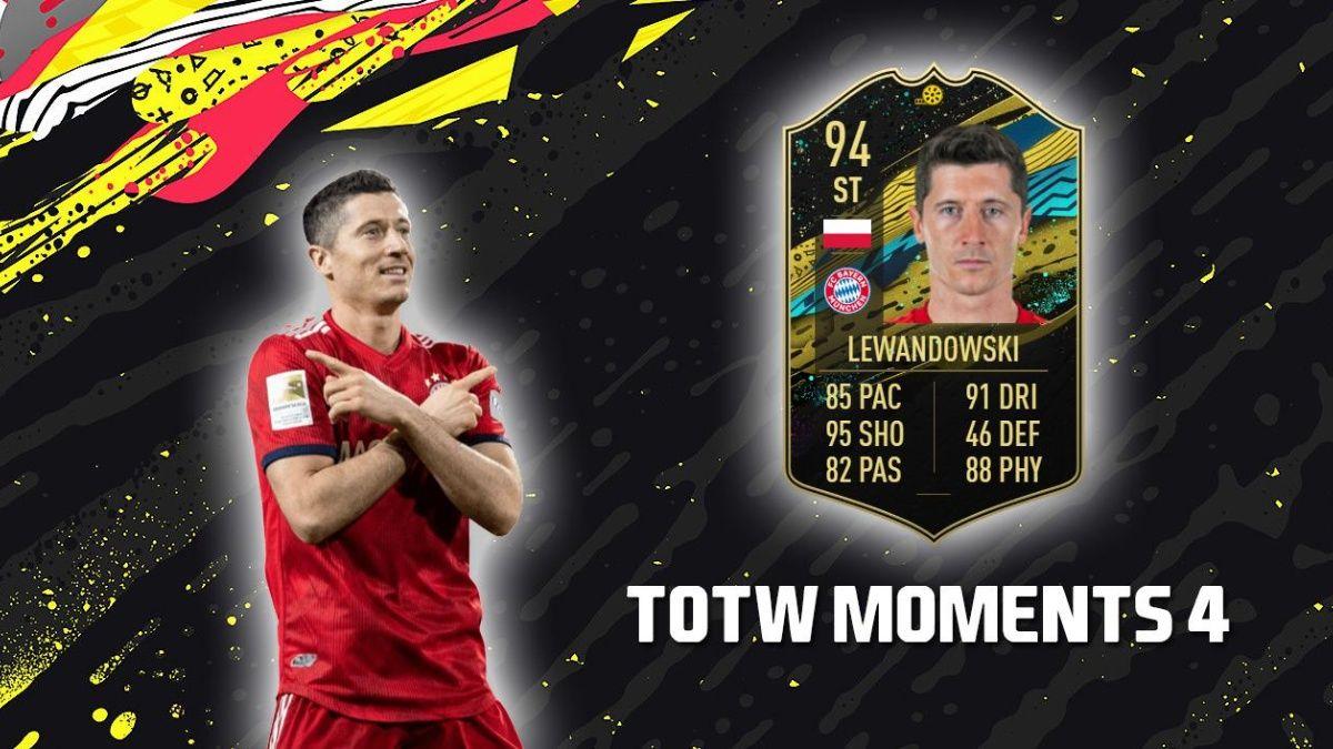 Con Robert Lewandowski con unas estadísticas brutales, EA Sports presentó el TOTW Moments 4 en FIFA 20