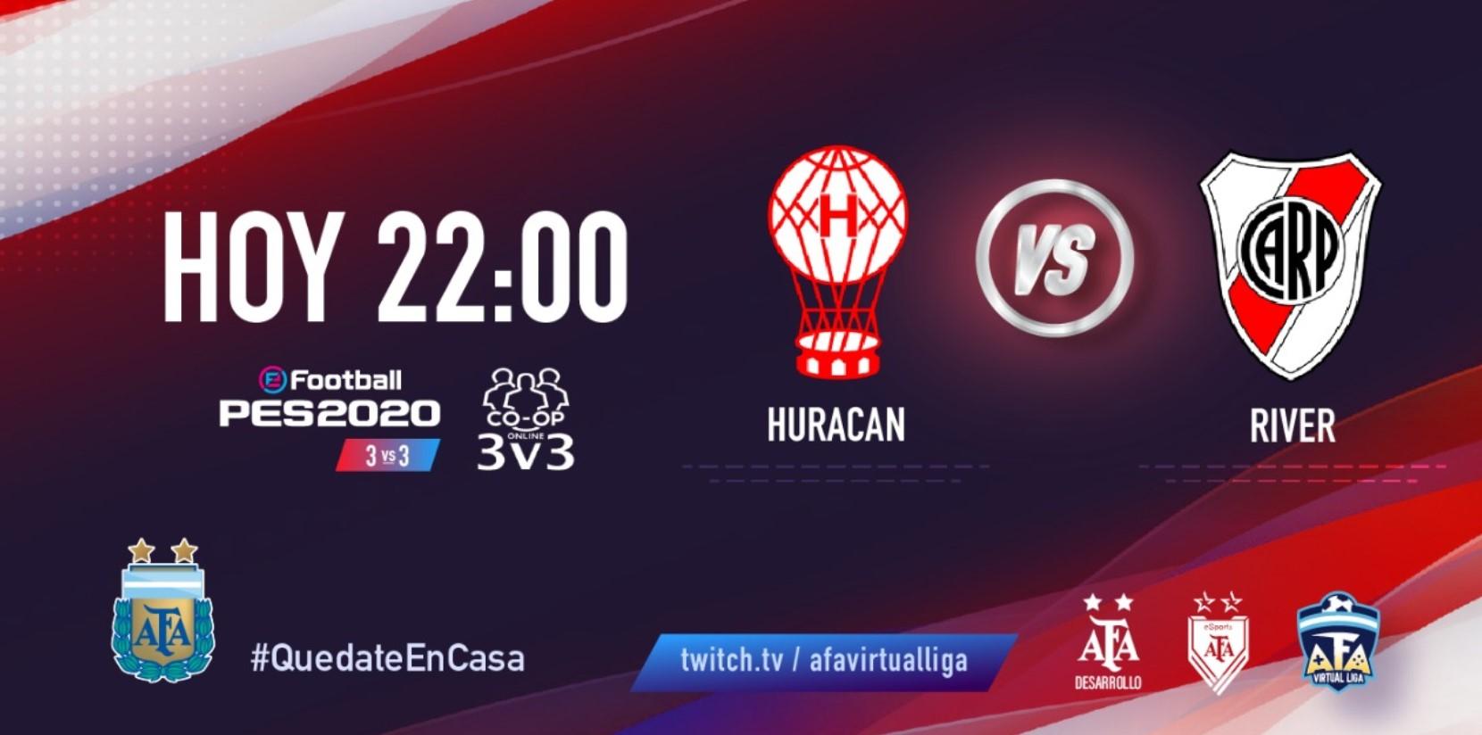 [FINAL] River Plate y Huracán definen el primer finalista del torneo 3 vs. 3 de AFA Virtual Liga
