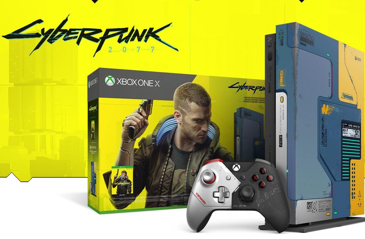 Cyberpunk 2077 presentó su Xbox One X personalizada: incluye una consola que brilla en la oscuridad y el juego