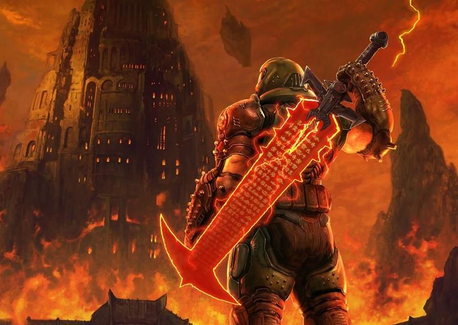 Espectacular homenaje de Bethesda a Final Fantasy: del infierno del Doom slayer a Shinra