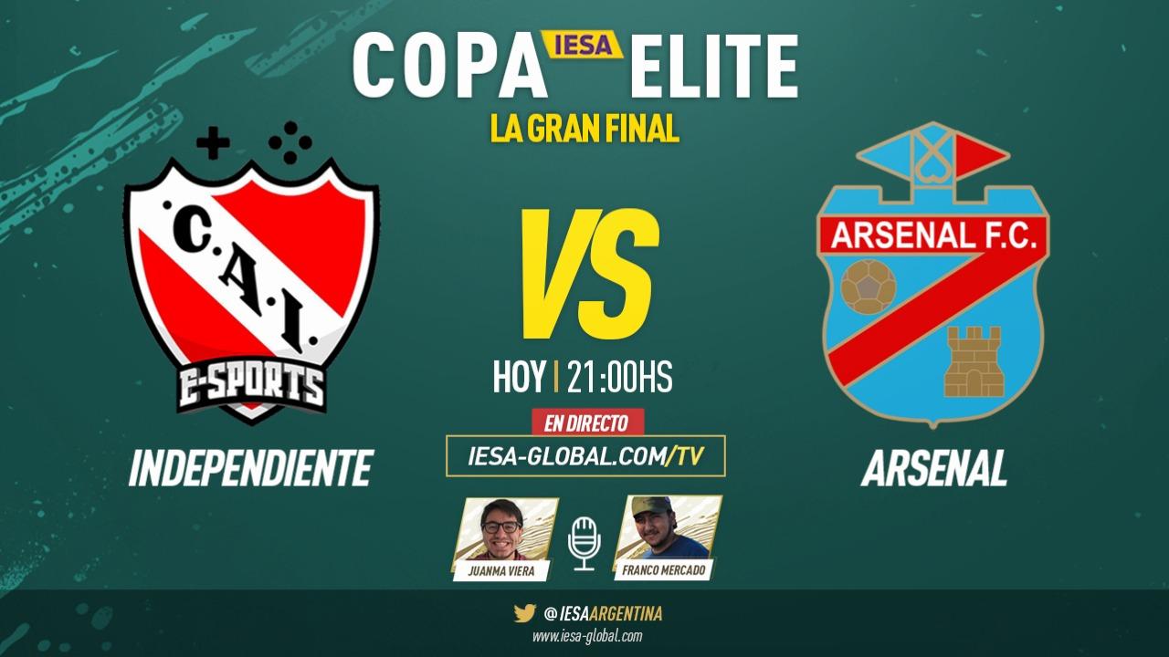 Independiente y Arsenal se juegan todo en la final de la Copa Elite de IESA