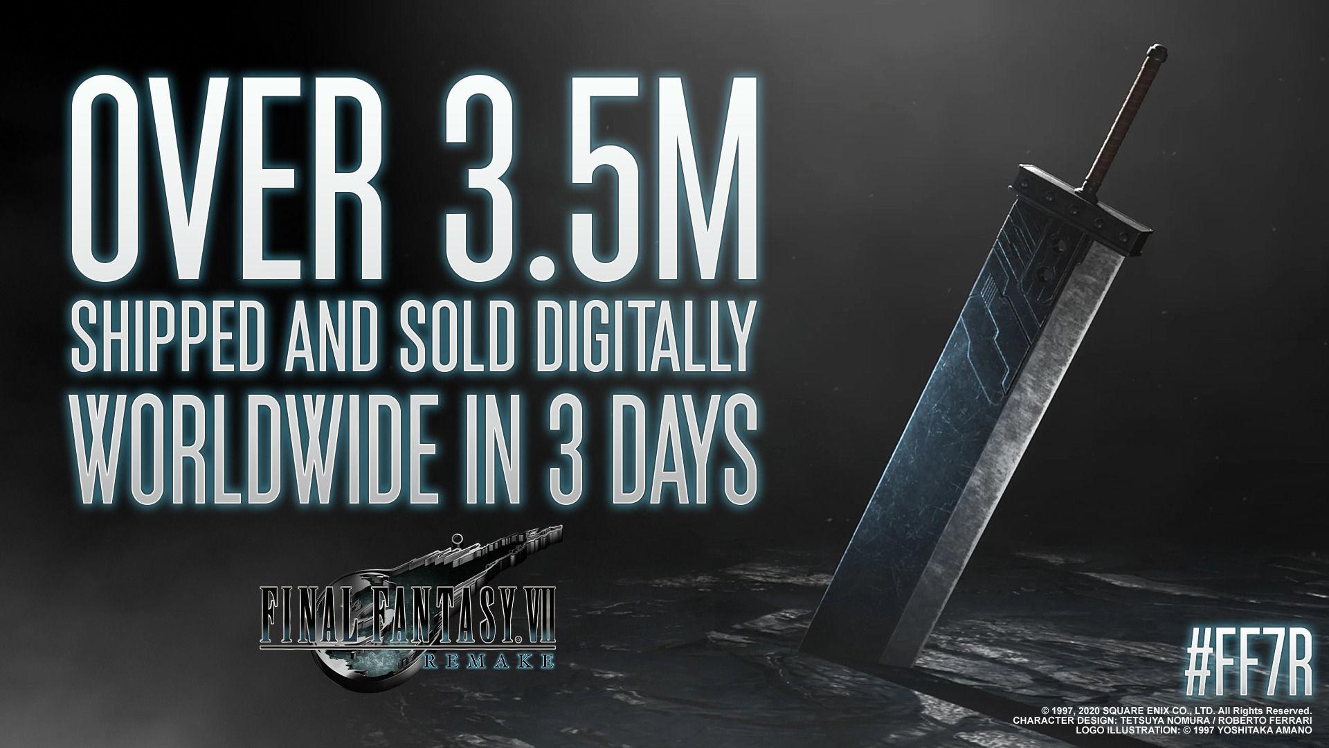 Final Fantasy VII Remake vende 3.5 millones de copias digitales en sus primeros días