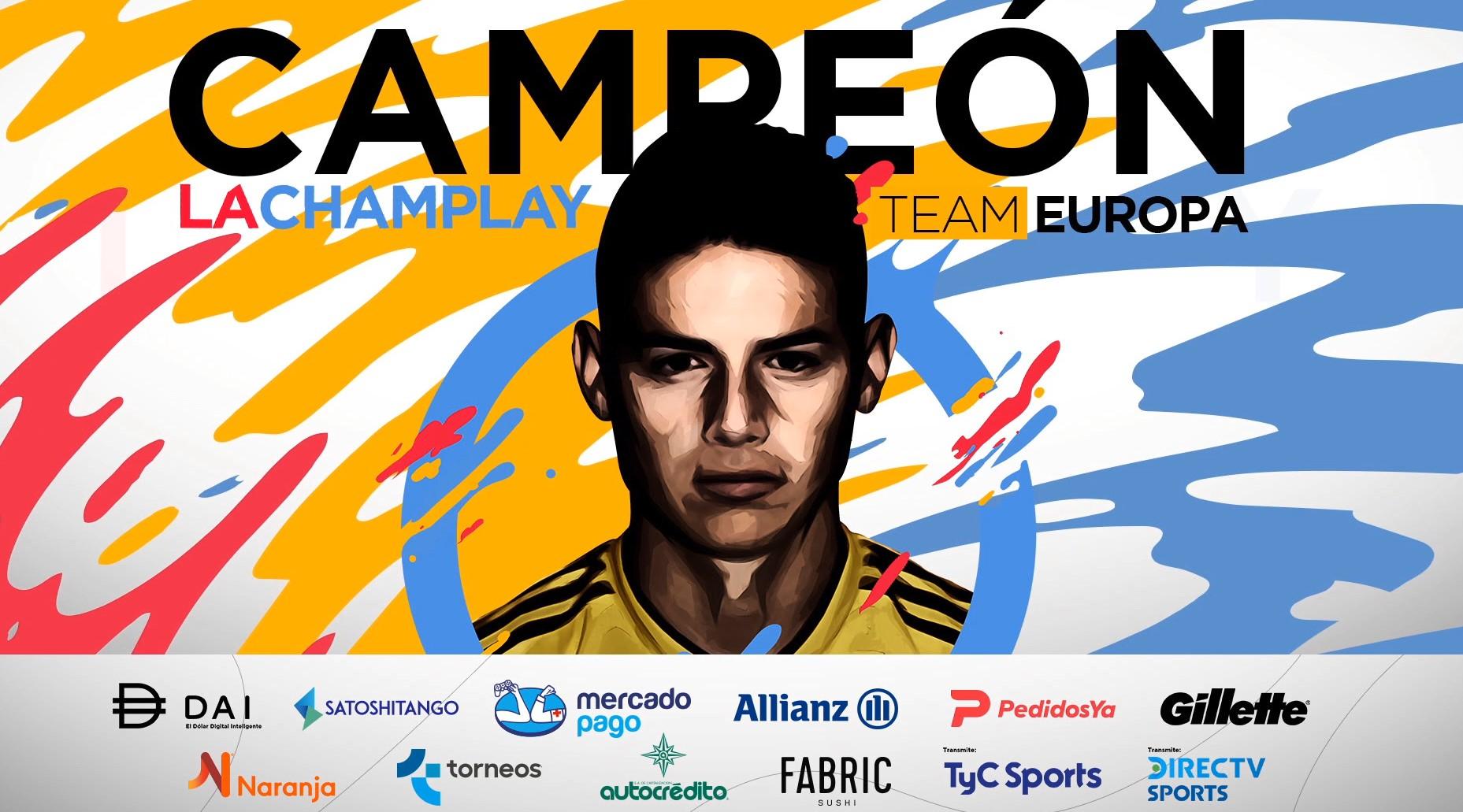 [FINALIZADO] James Rodríguez festejó en la Champlay: el torneo de FIFA 20 a beneficio de la Cruz Roja