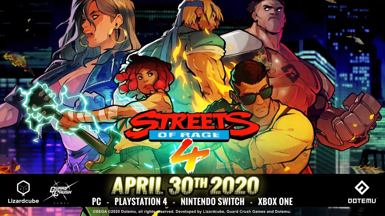 Tras confirmar la fecha de lanzamiento, Streets of Rage 4 presentó un nuevo tráiler