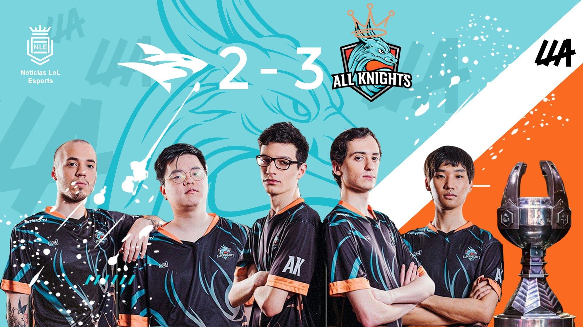 Final de la Liga Latinoamerica de LoL: All Knights sorprendió a Isurus Gaming y pudo festejar el Apertura