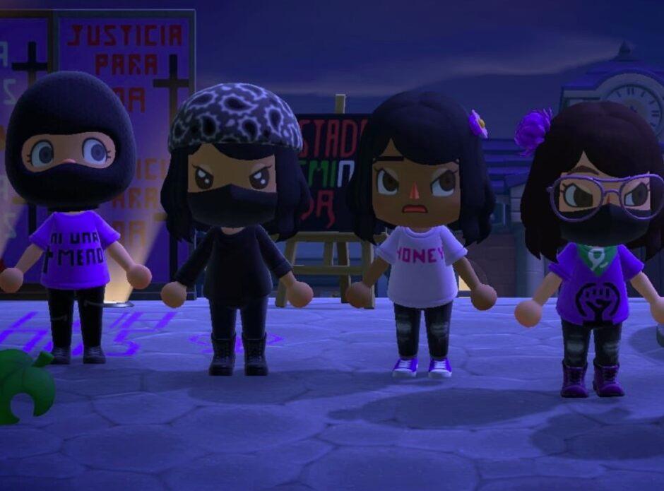 Nueva protesta en Animal Crossing: esta vez, mexicanas encontraron la forma de manifestarse contra femicidios