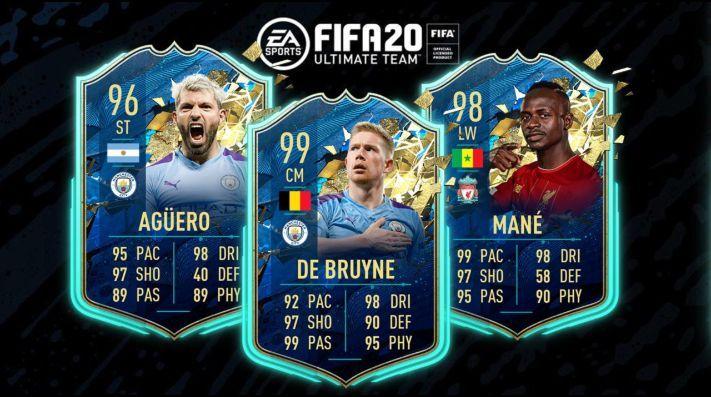 EA Sports publicó el TOTSSF de la Premier League en Ultimate Team para FIFA 20