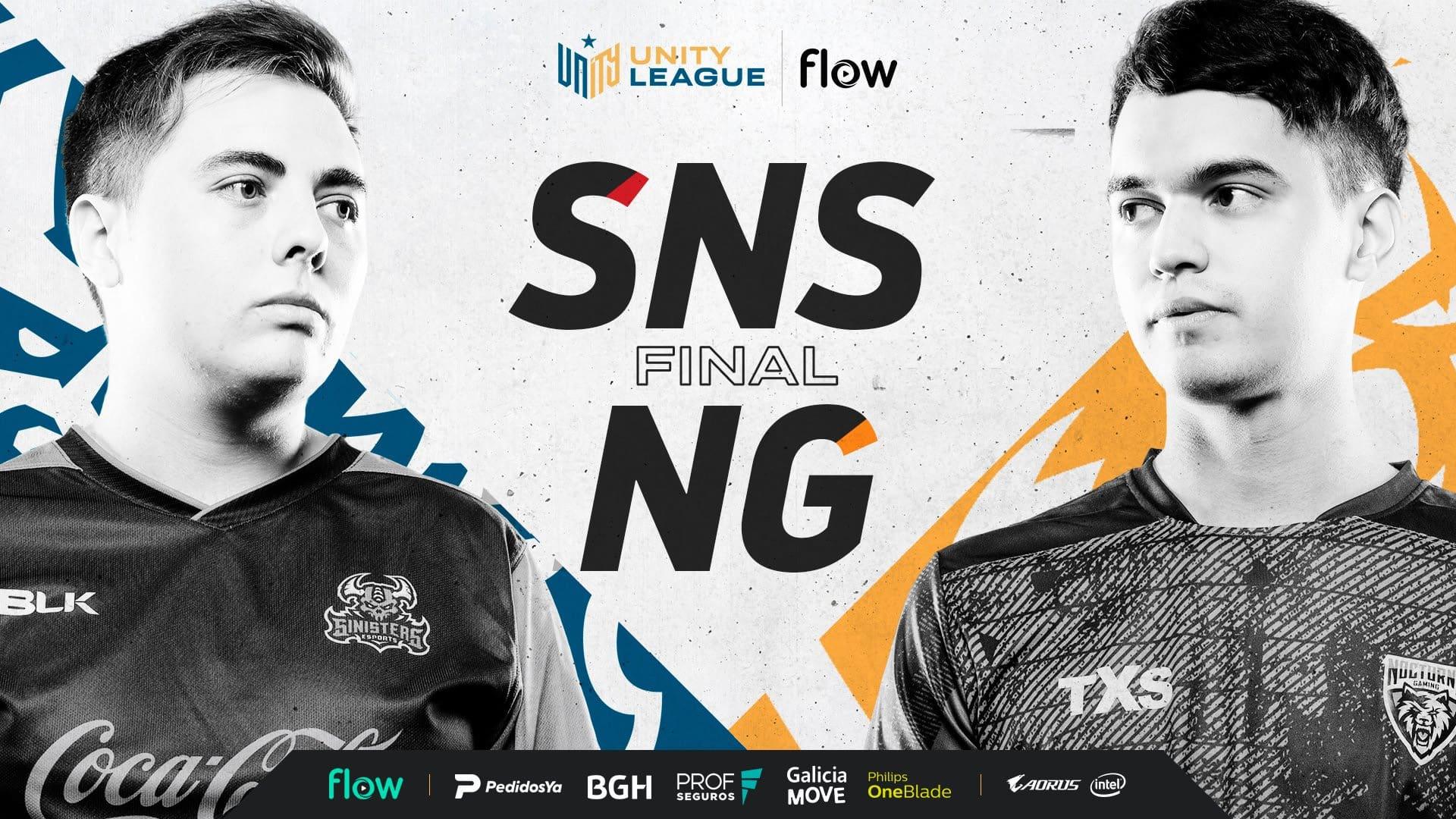 Sinisters y Nocturns Gaming se enfrentan en la gran final de Unity League Flow de CS:GO