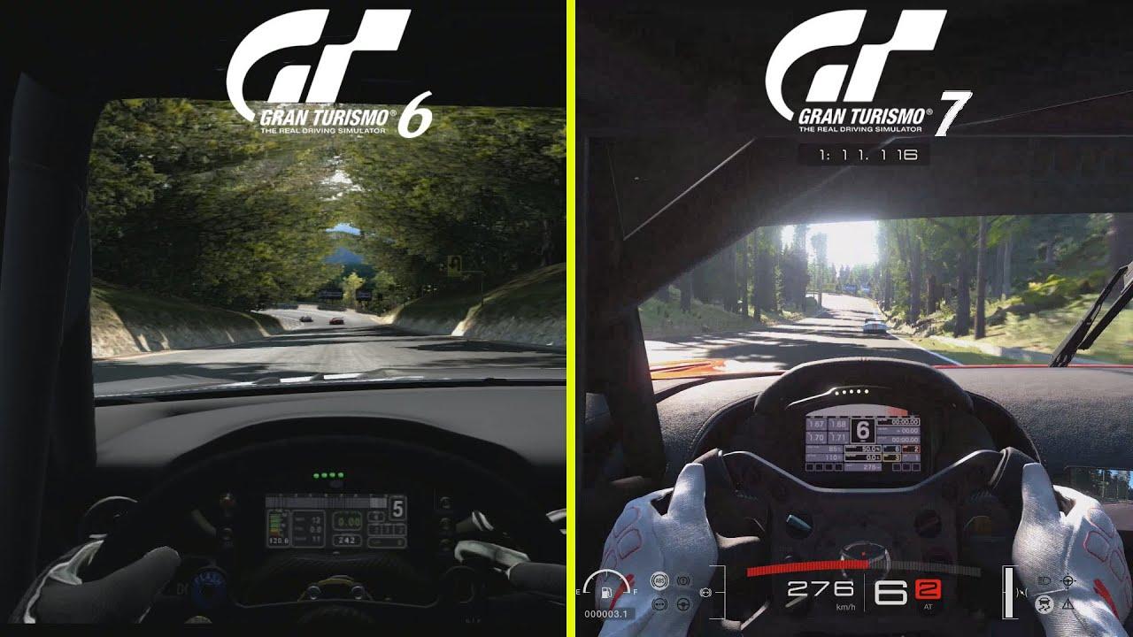 Comparan el circuito Trial Mountain de Gran Turismo 6 con el de Gran Turismo 7: ¿hay diferencias?
