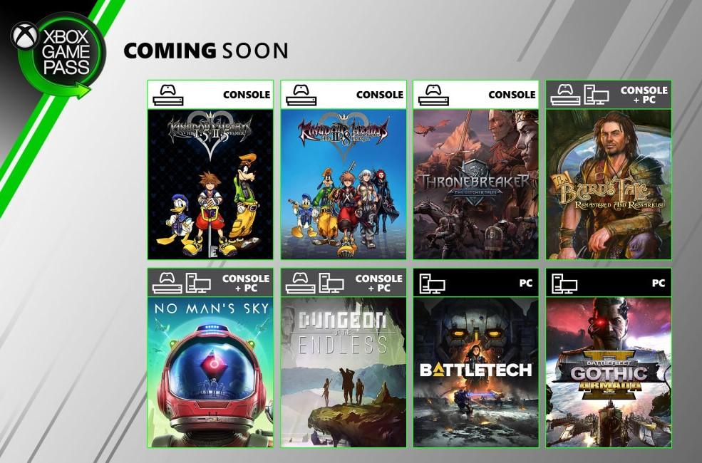Tres pesos pesados se suman a Xbox Game Pass en junio: No Man's Sky, Kingdom Hearts, y Thronebreaker, la historia en base a Gwent de The Witcher