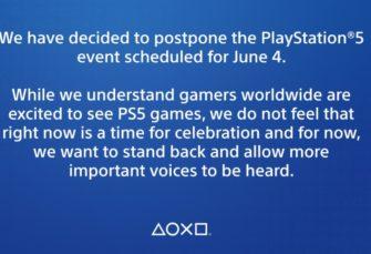 Sony pospone el evento del 4 de junio en el que iba a dar a conocer sus próximos juegos de PS5