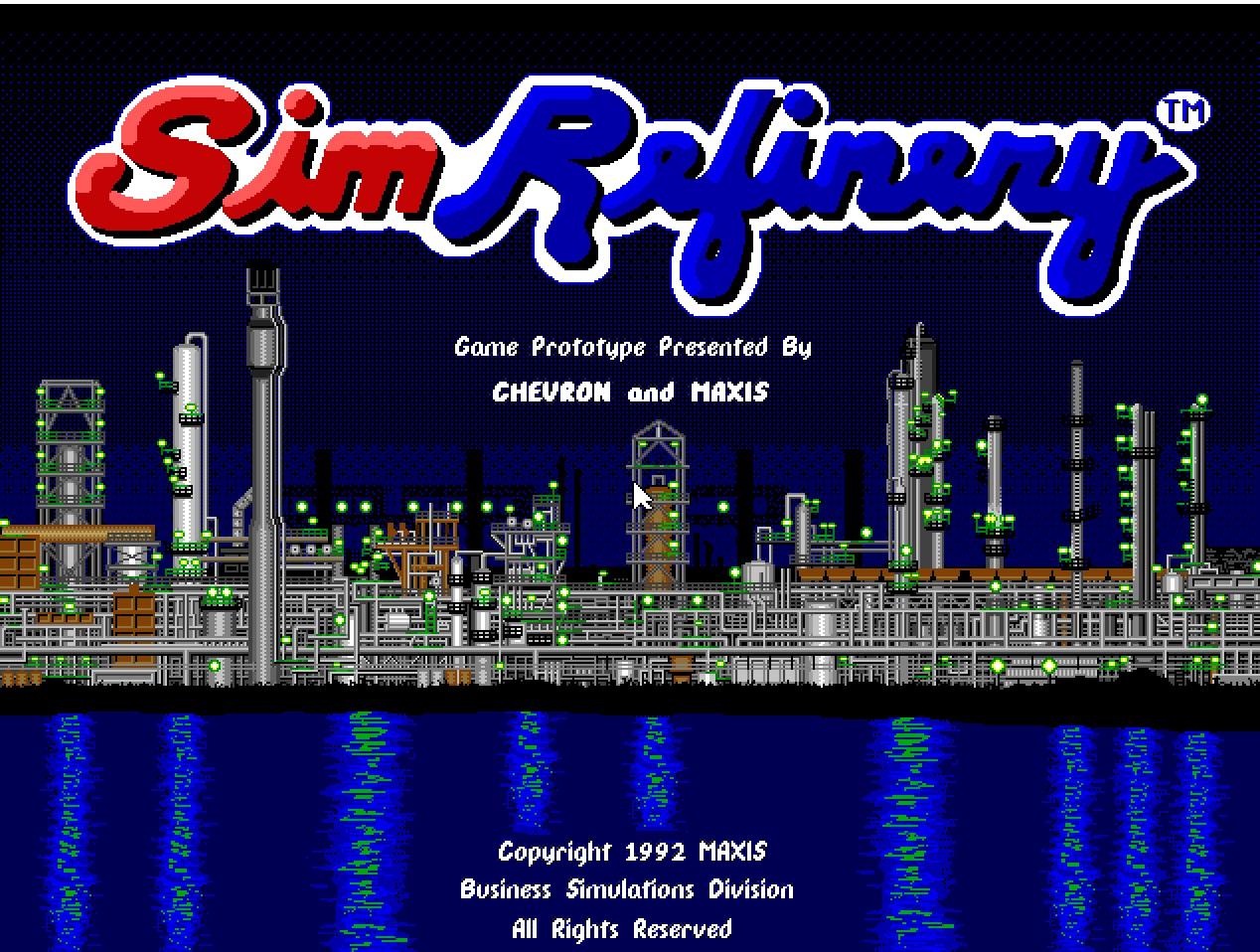 SimRefinery: el juego olvidado de Maxis que ahora se puede jugar online