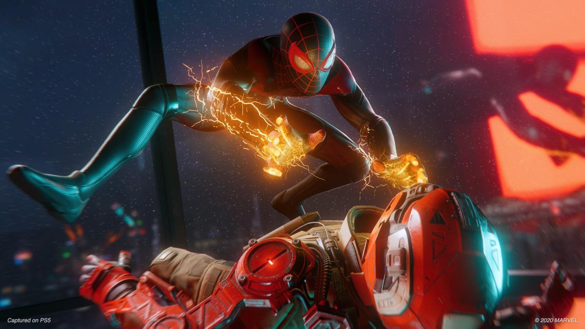 Insomniac Games añadió una actualización en Spider-Man: Miles Morales con raytracing a 60 fps