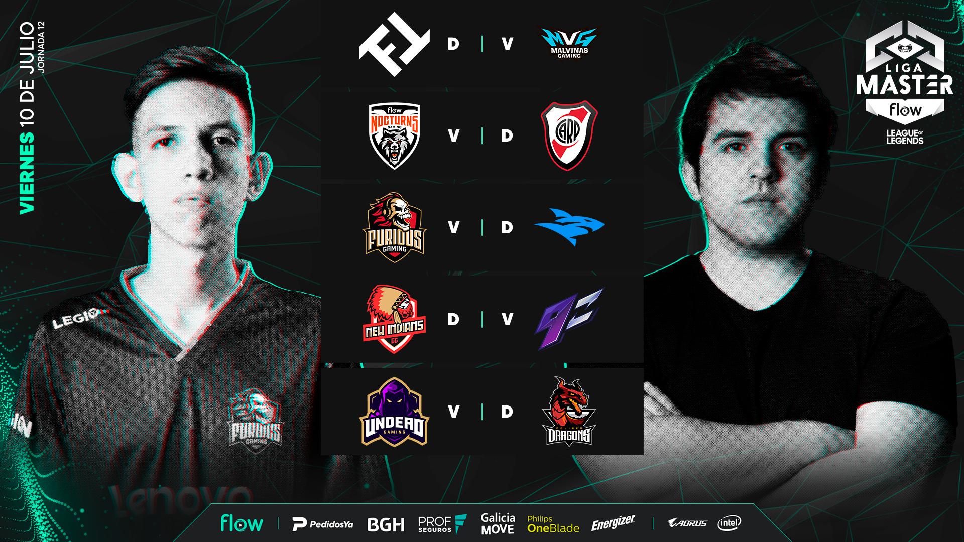 Liga Master Flow, jornada 12: Undead Gaming quiere marcar el camino rumbo a los playoffs