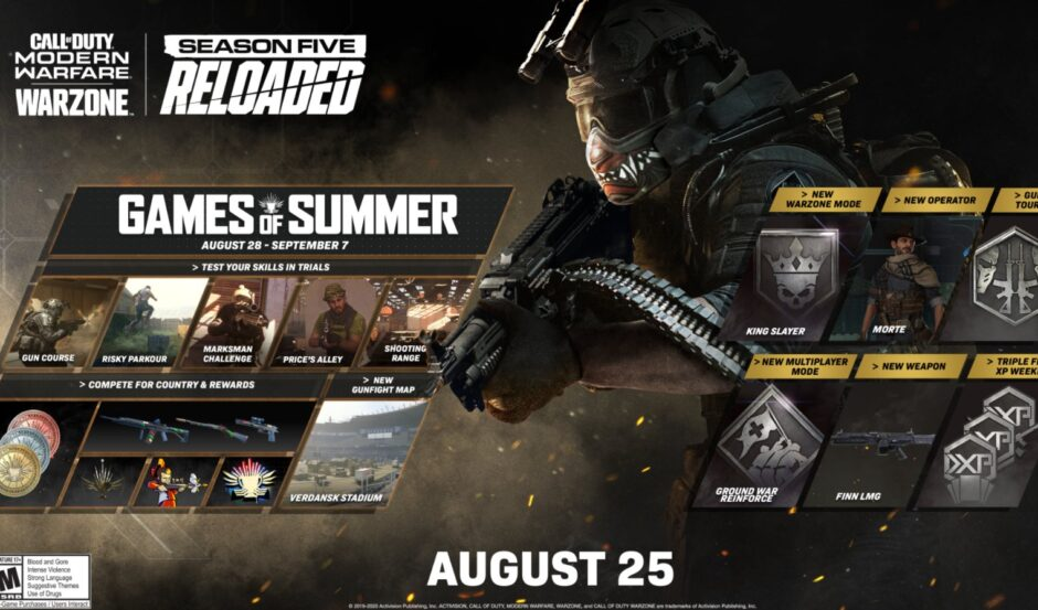 10 GB de actualización en Call of Duty Warzone: una potente arma nueva y algunos bug fixes
