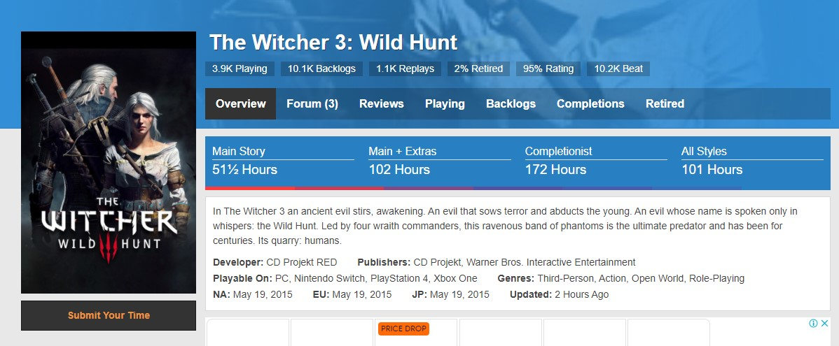 Witcher 3 HLTB