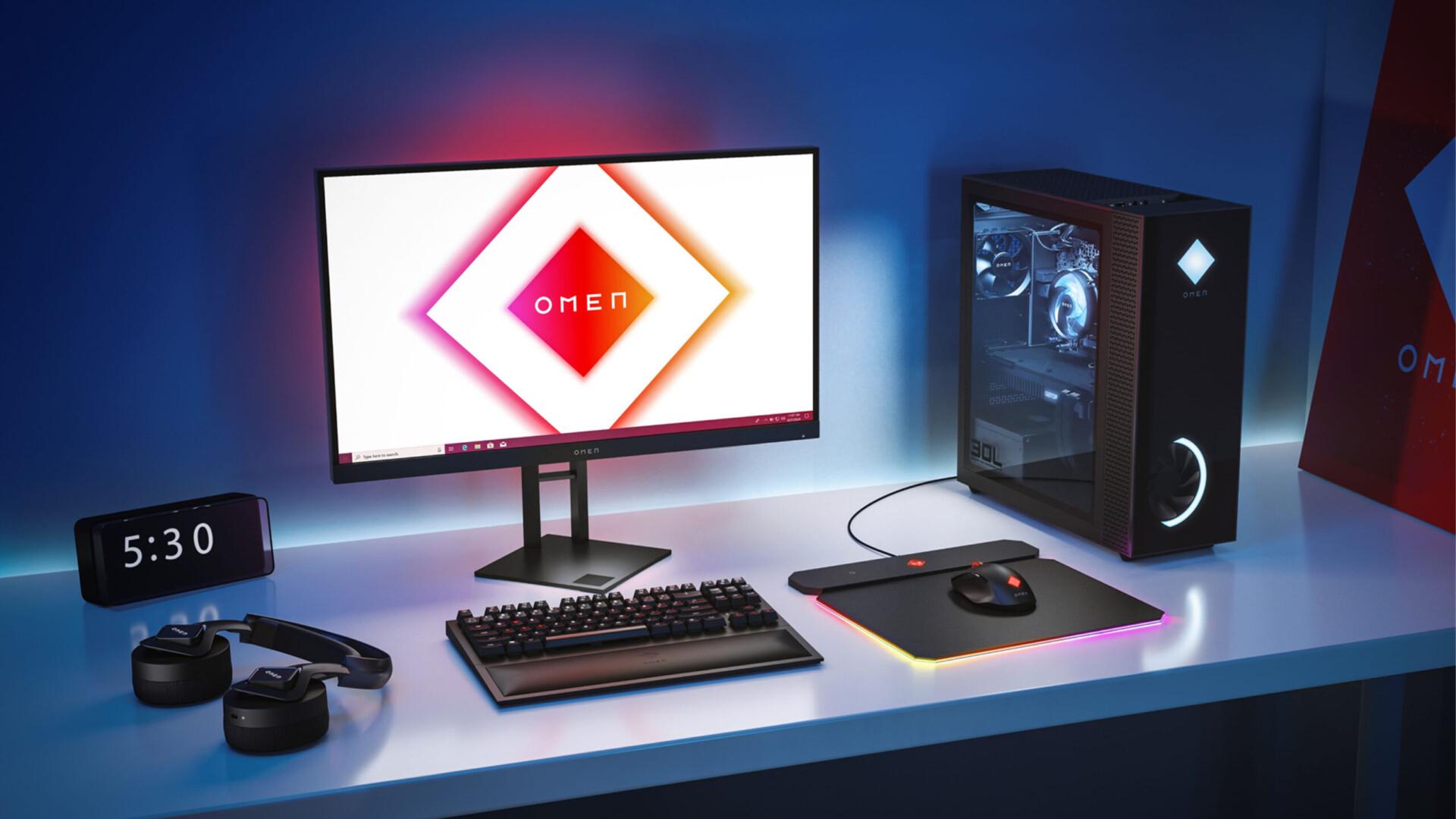 HP actualizó su línea de escritorio OMEN con Nvidia GeForce RTX 30