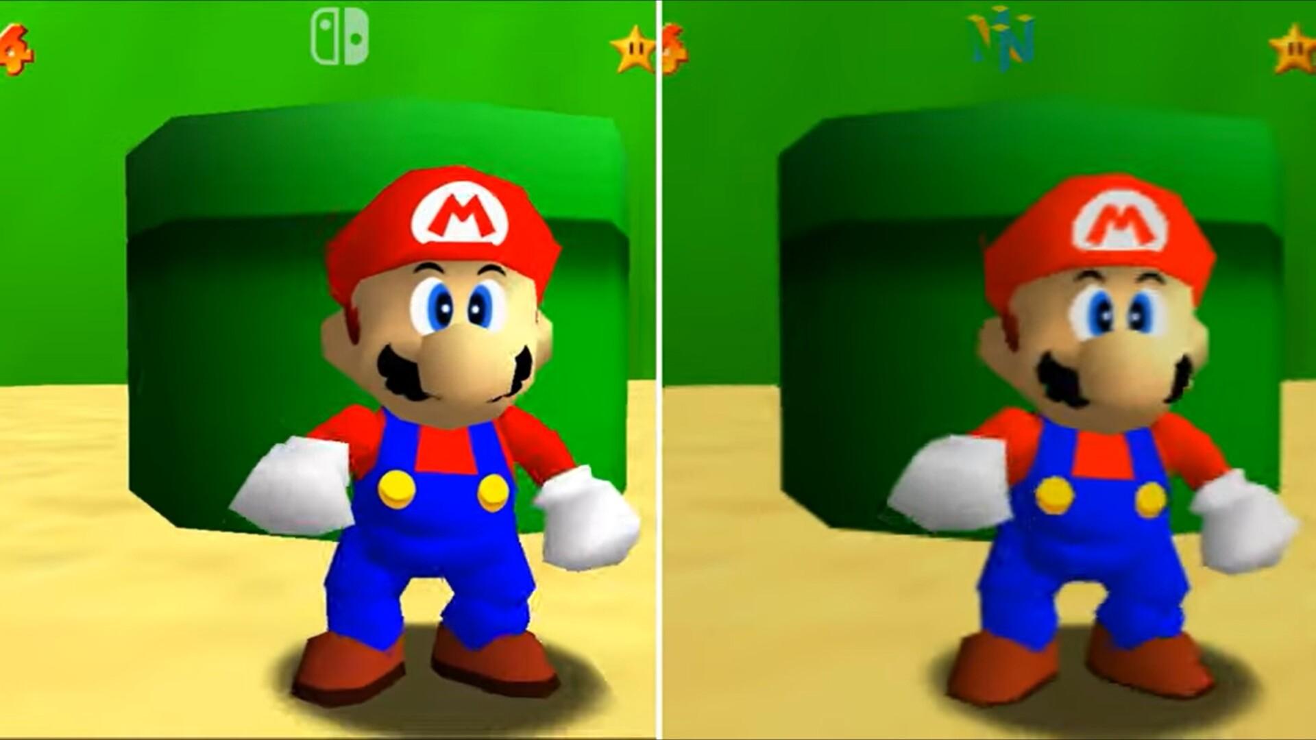 Los gráficos de Super Mario 64 en Nintendo Switch no están mejorados y los fans se están quejando: así se ve