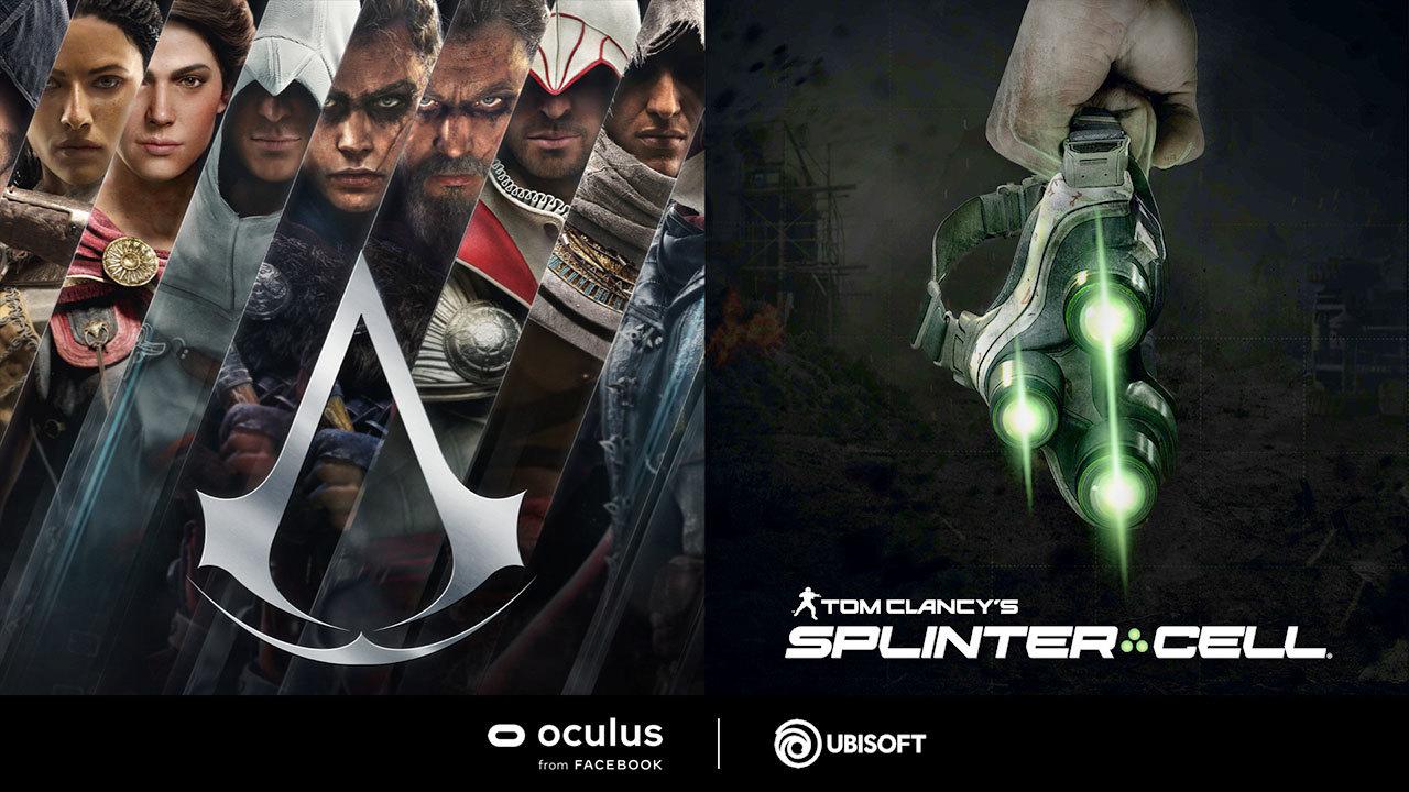 Assassin's Creed y Tom Clancy's Splinter Cell tendrán sus versiones para el casco Oculus Quest 2