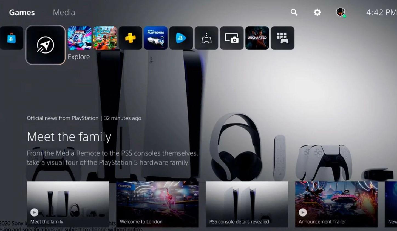 Sony reveló los detalles de la interfaz de usuario de PlayStation 5