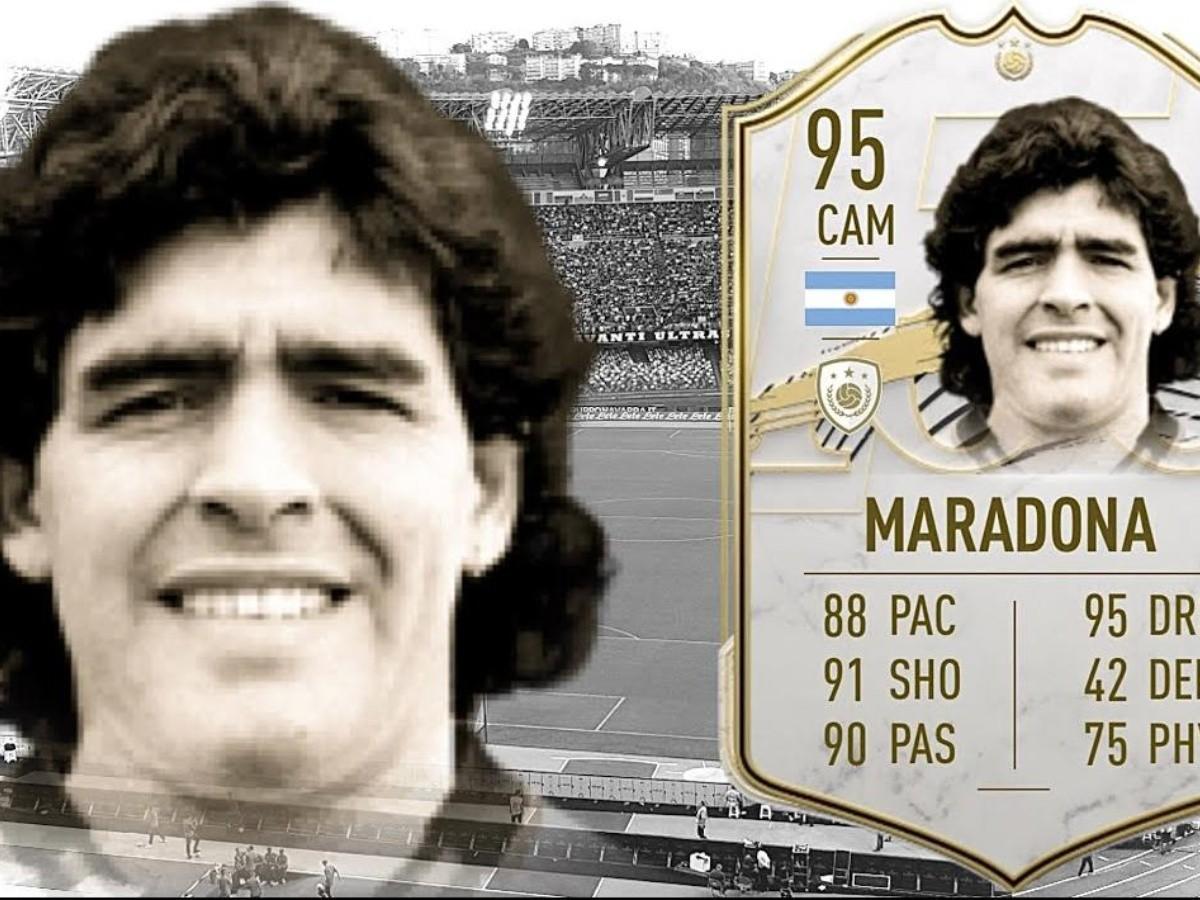 La carta de Diego Maradona subió casi un millón de monedas en FIFA 21