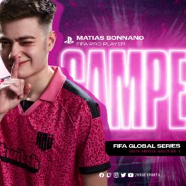 Matías Bonanno gritó campeón en la Global Series Sudamérica de FIFA 21