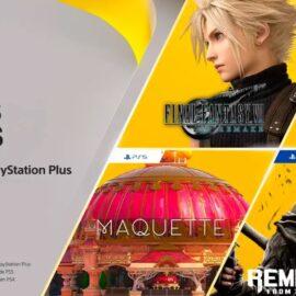 PS Plus presentó los juegos gratuitos de marzo con Final Fantasy 7 Remake como figura