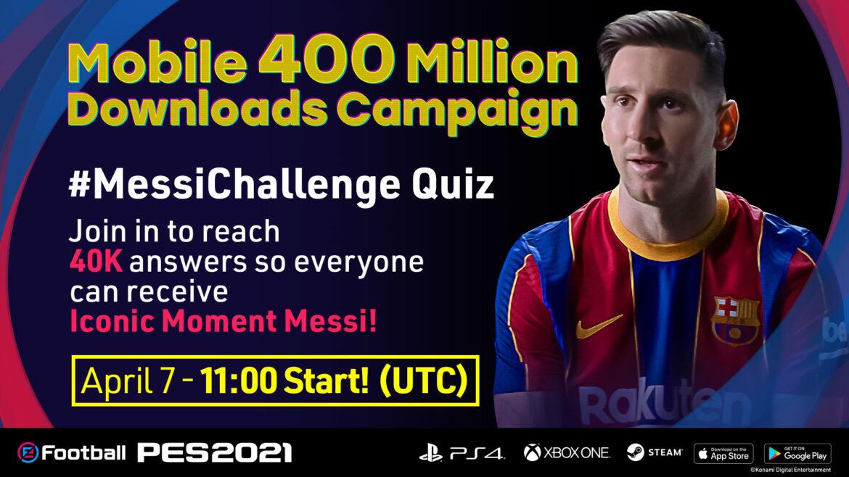 PES 2021 Mobile celebró con Lionel Messi las 400 millones de descargas