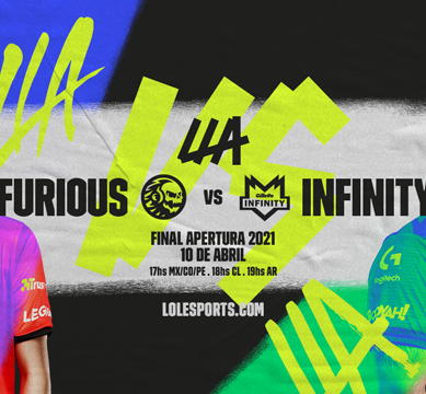 LLA de League of Legends: cómo ver la gran final entre Furious e Infinity