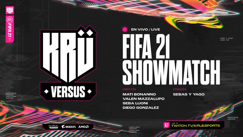 KRÜ Versus vuelve con el FIFA Showmatch con sus principales pro players