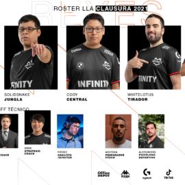 Infinity Esports presentó su roster para defender el título de la LLA
